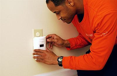 Installing CO alarm