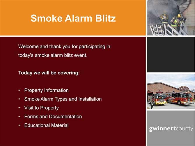 Gwinnett County Smoke Alarm Installation